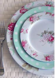 DIY Melamine Plates - Ramshackle Glam
