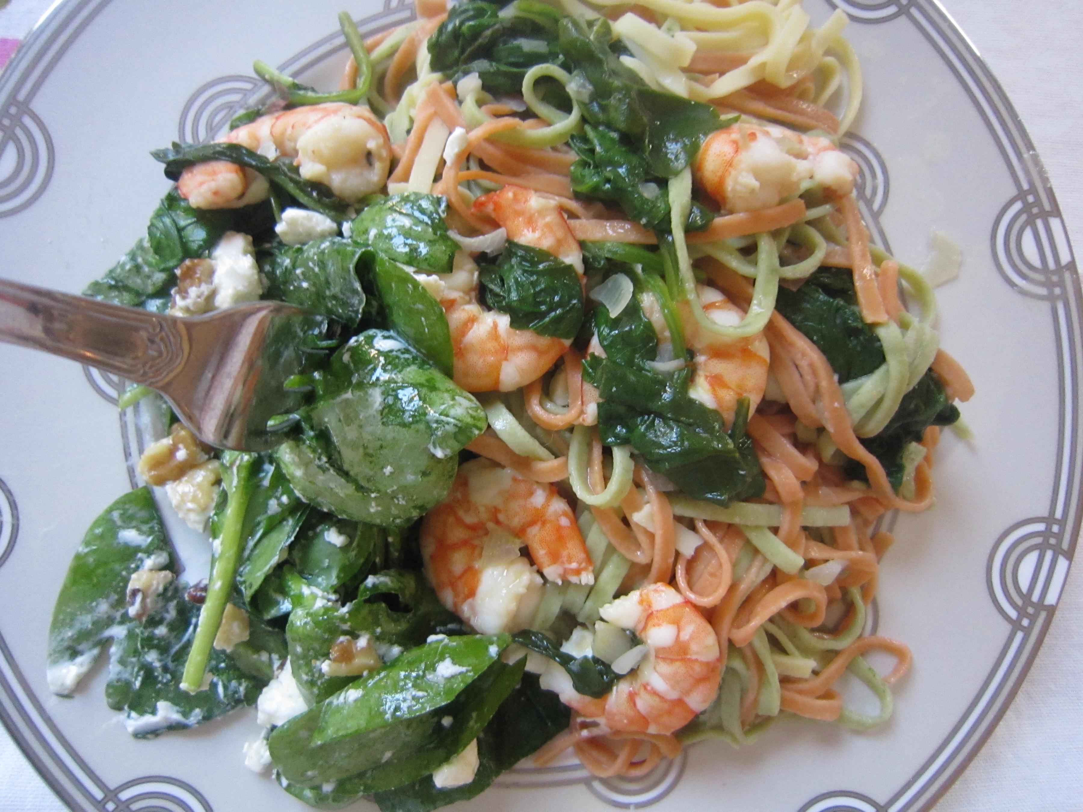 Shrimp Stock Super Salad With Lemon Dressing Ramshackle Glam