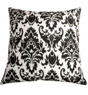 ikea black and white pillows ramshackle glam. Black Bedroom Furniture Sets. Home Design Ideas