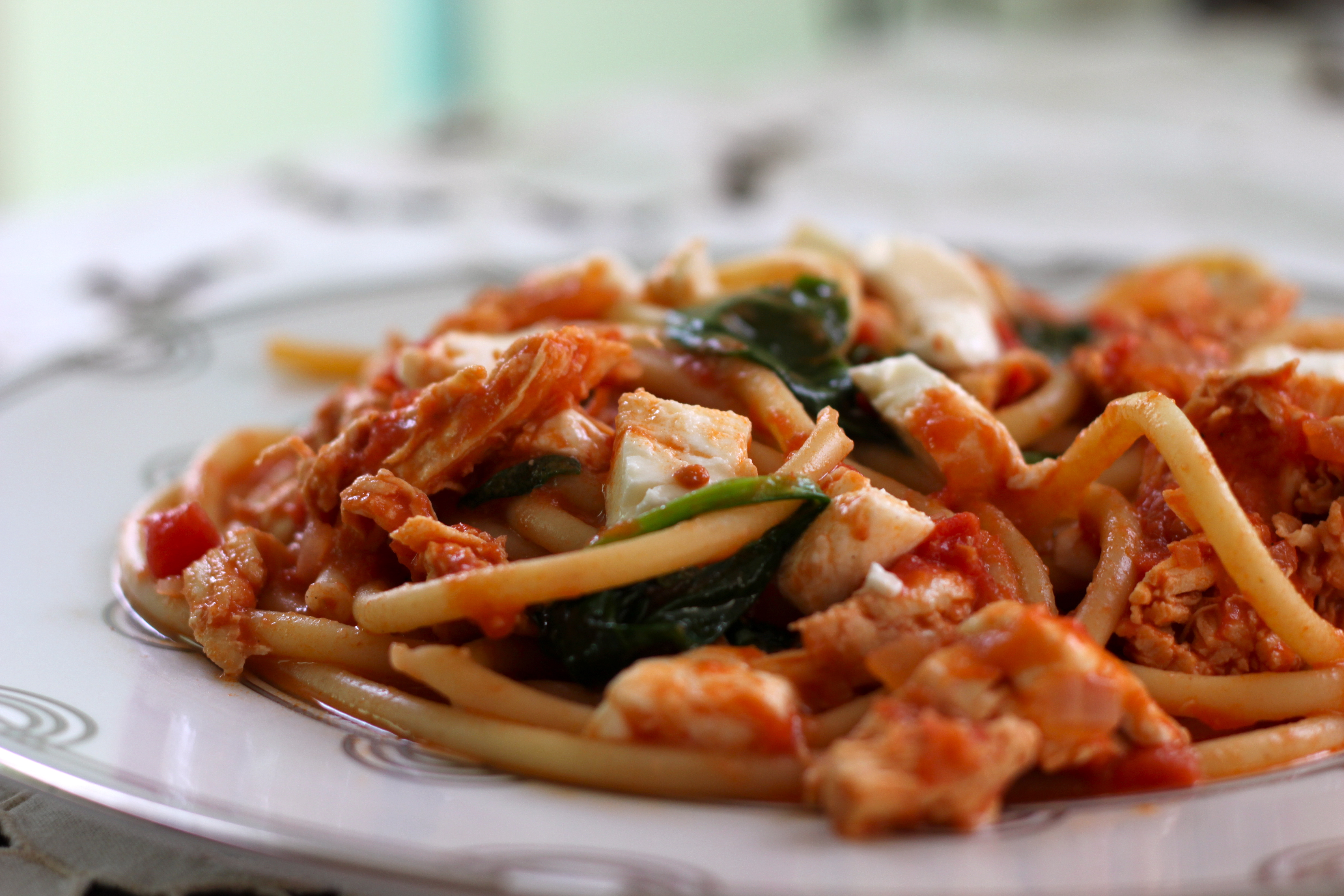 Chicken Pasta W Easy Sweet Tomato Sauce Ramshackle Glam