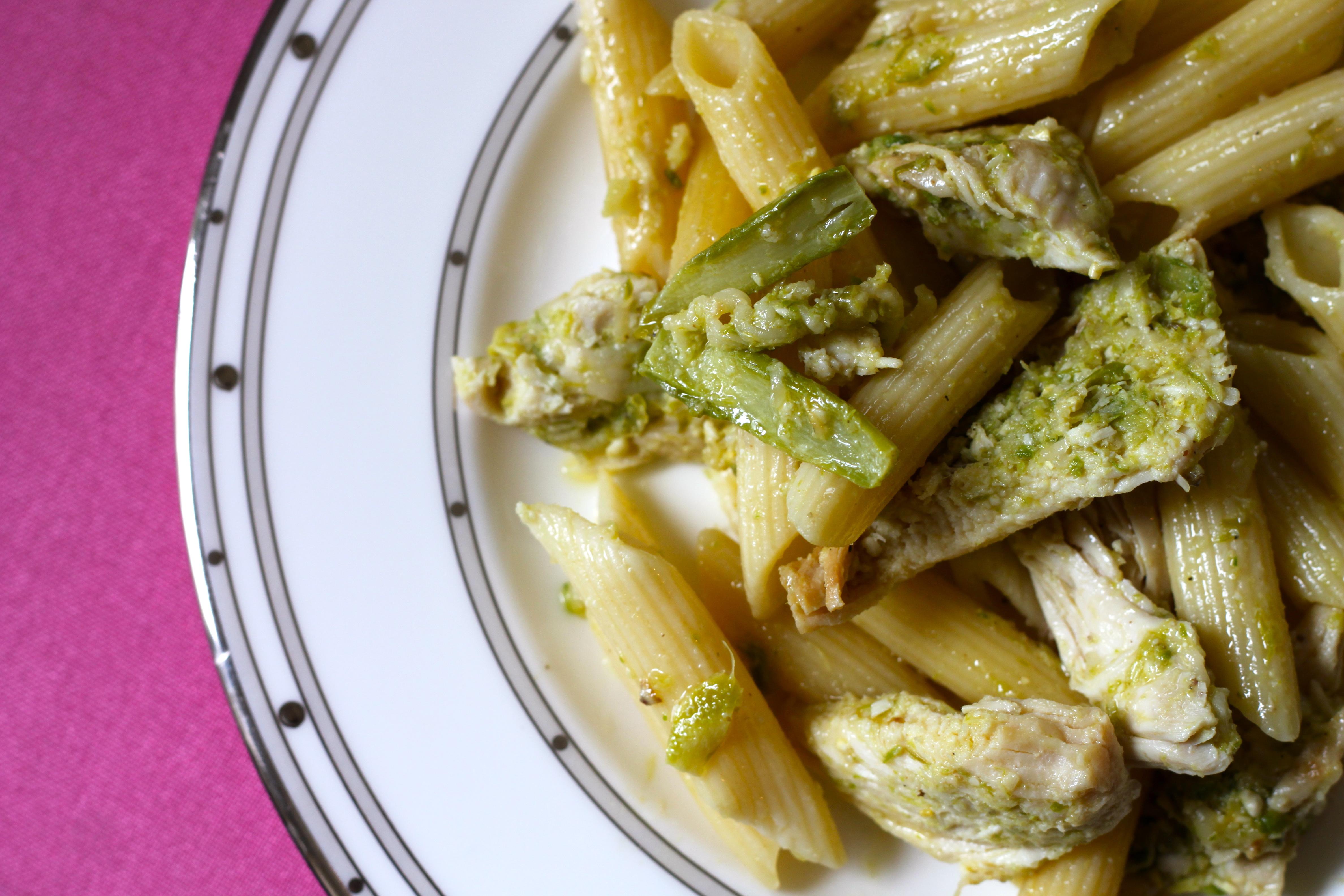 Asparagus Pesto Pasta with Lemon-Pepper Chicken ...