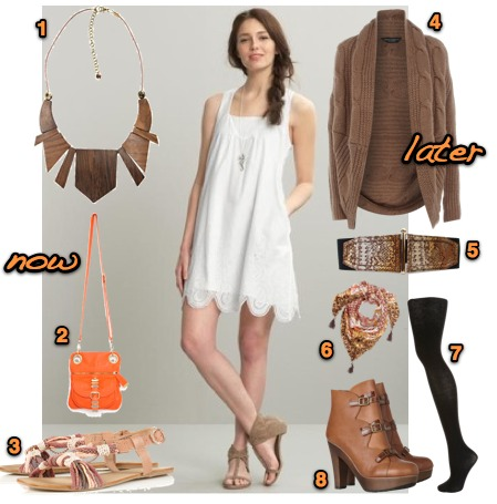 Because There S Nothing More Fun Than Taking Floaty Summer Dresses Into The Fall With Thick Cozy Cardigans And Sy Boots