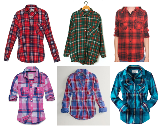 415a9f720bc Clockwise from top left  Aritzia Boyfriend Fit Flannel ( 60  I own a hooded  version of this in a white-and-red plaid and LOVE it)  Filthy Magic  Oversized ...