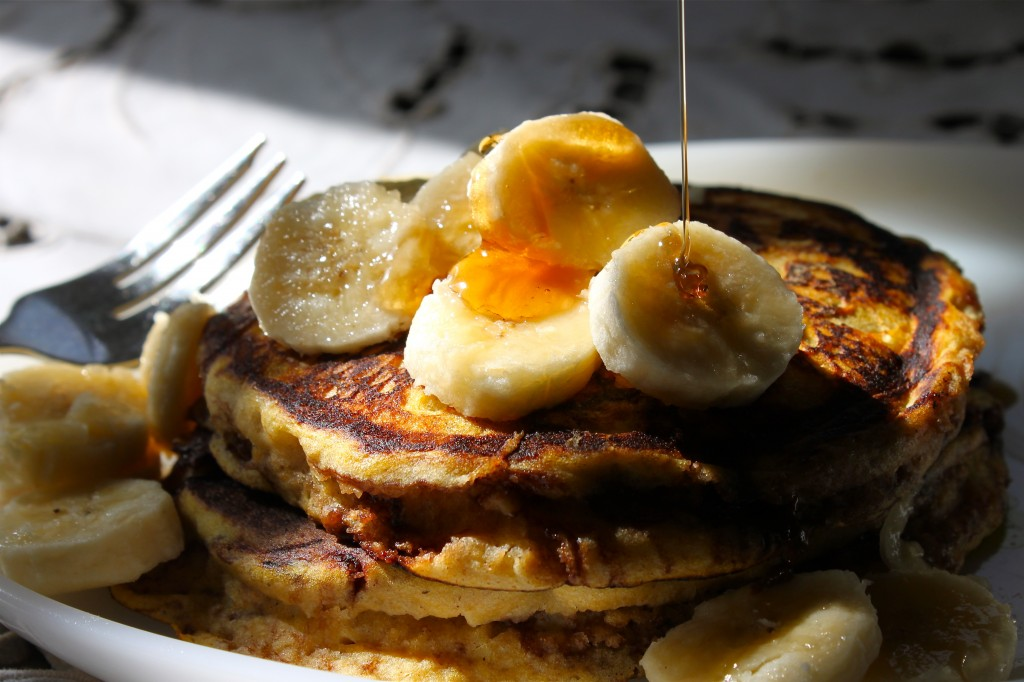 Pumpkin-Banana Pancakes with a Nutella Swirl – Ramshackle Glam