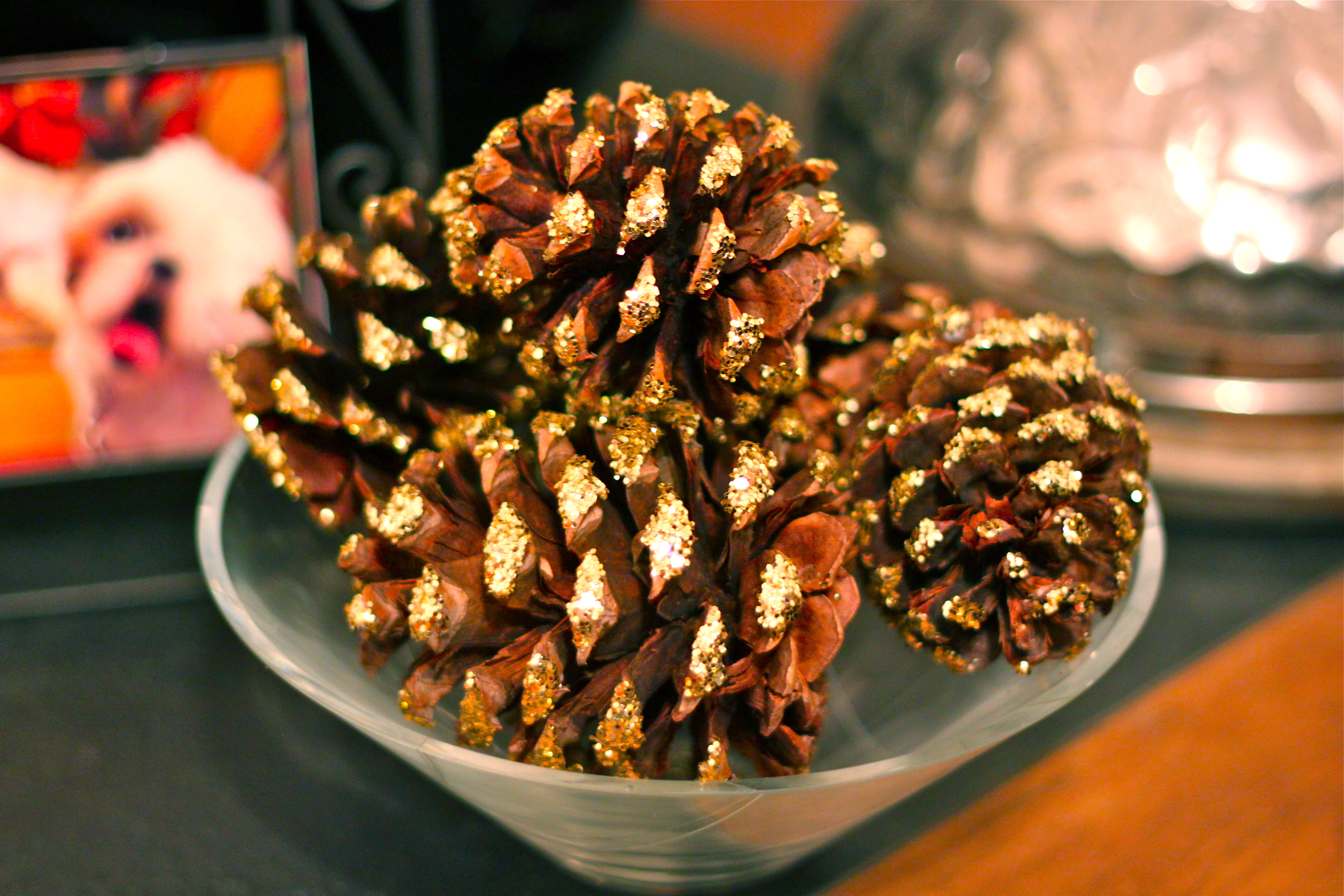 Diy Scented Glitter Pinecones Ramshackle Glam
