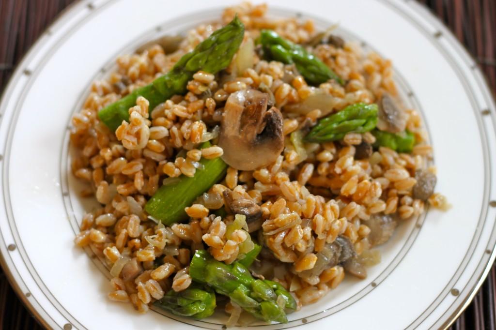 Farro, Mushroom & Asparagus Salad – Ramshackle Glam