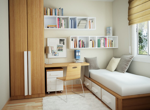 Itsy bitsy bedroom maximizing your small space Maximise storage small bedroom