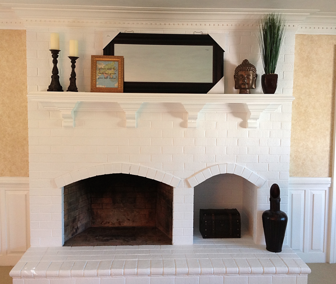 Recently Sent Me This Photo Of Her Gorgeous Nonworking Fireplace