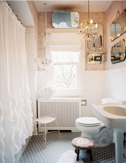 what to do with pink and black bathroom tile ramshackle glam