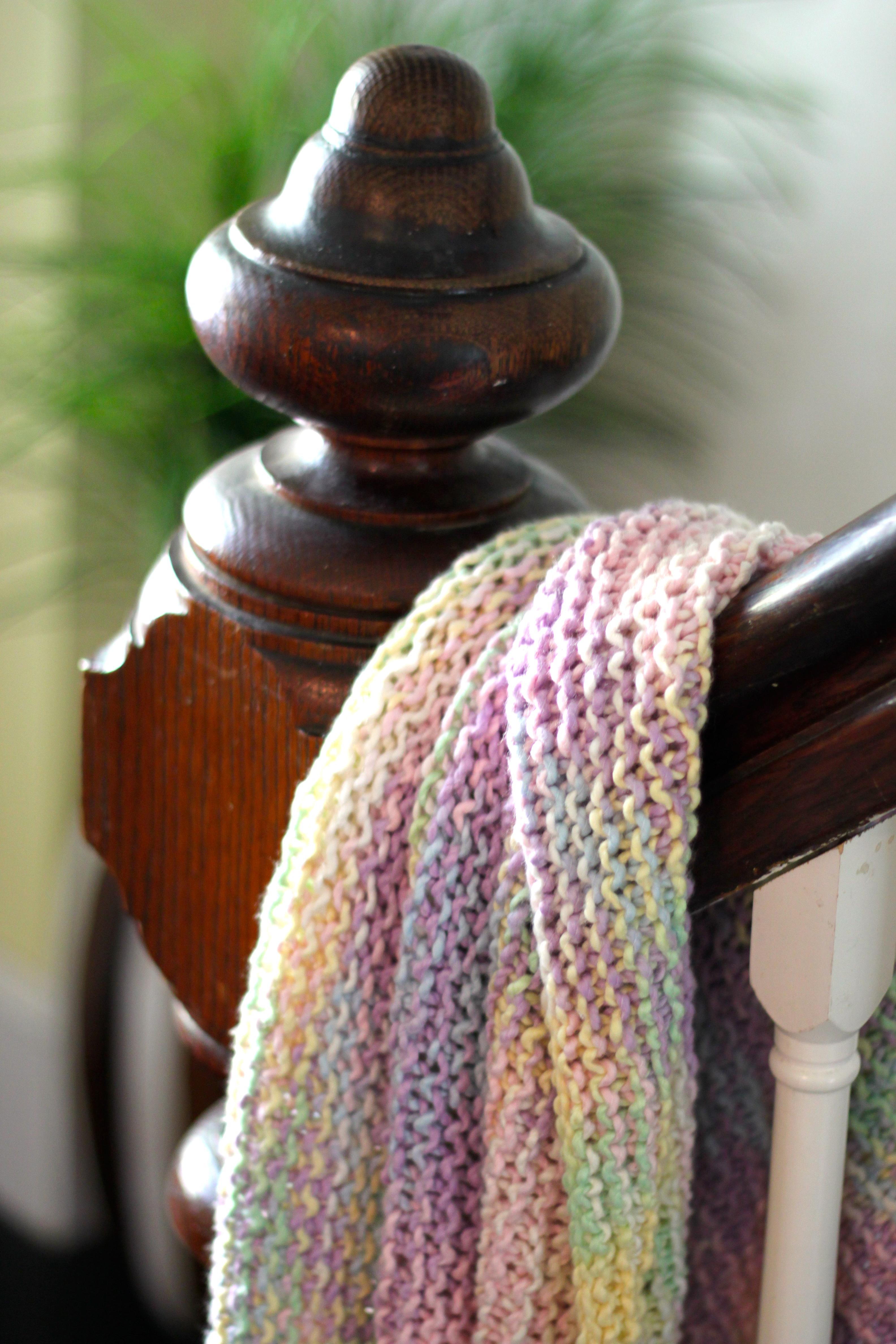 Variegated Yarn Baby Blanket – Ramshackle Glam
