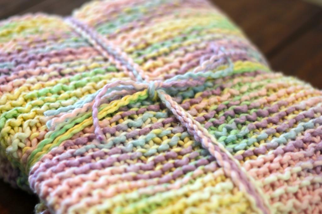 Variegated Yarn Knitting Patterns : Variegated Yarn Baby Blanket   Ramshackle Glam