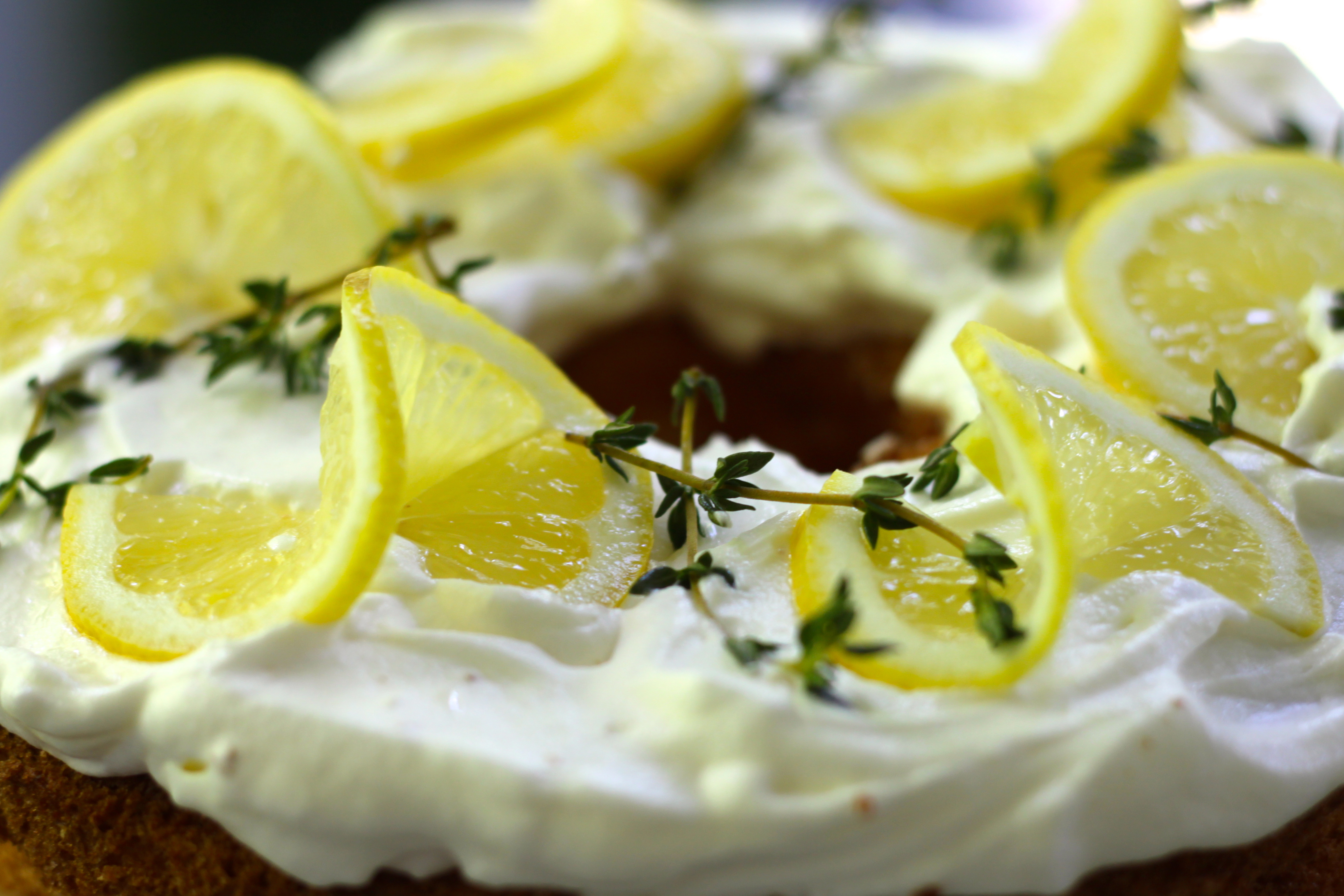 Lemon Twist Garnish Cake